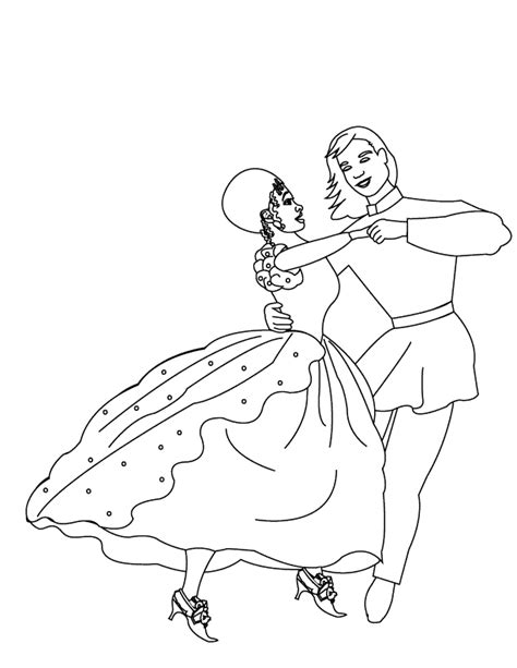 coloring pages couple dancing3