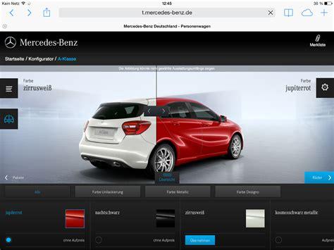 Bester Auto Konfigurator by Daimler Launcht Den Besten Tablet Konfigurator Im Markt