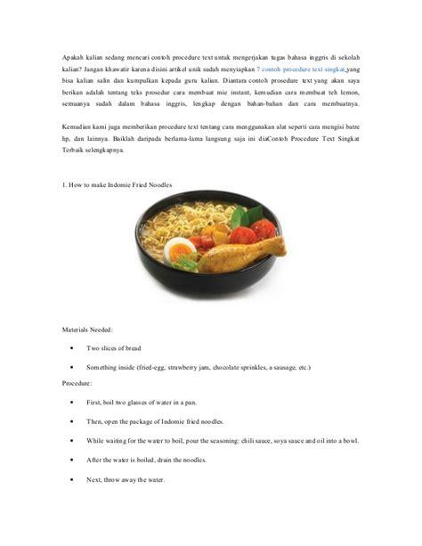 prosedur teks cara membuat hotdog nasi goreng
