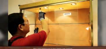 Installing Glass In Kitchen Cabinet Doors by How To Install A Sliding Glass Cabinet Door 171 Construction