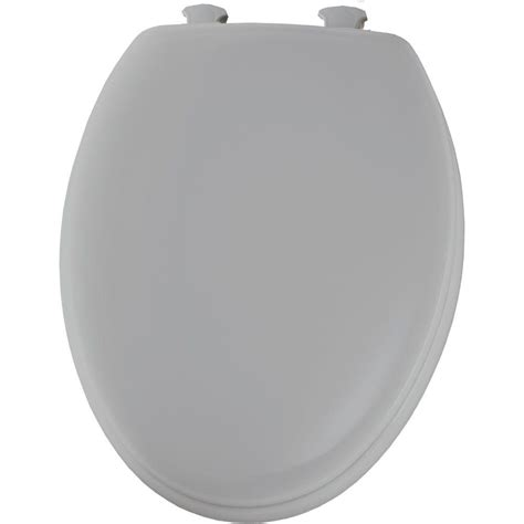 bemis toilet bemis elongated closed front toilet seat in silver 1450ec