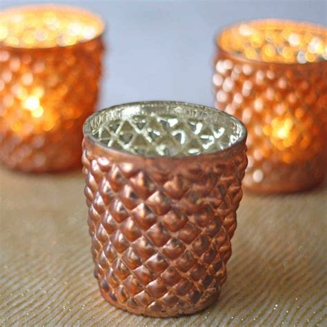 Quilted Glass by Quilted Glass Copper Tea Light Holder By The Wedding Of