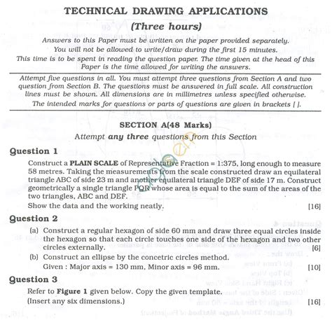 technical writing question paper icse question papers 2013 for class 10 technical drawing