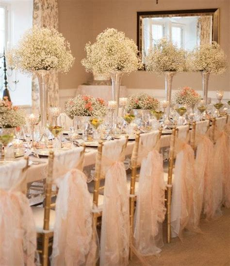ROMANTIQUE WEDDING RECEPTION DECORATIONS   Baby's breath