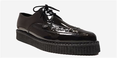 Hummer Original Clothing Apolo Build Up barfly creeper black patent leather single sole