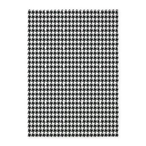 houndstooth area rug black and white houndstooth 5 x7 area rug by organicpixels