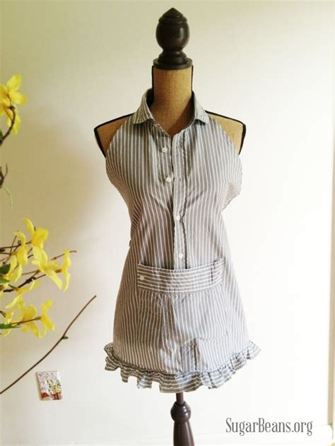 apron pattern using a man s shirt how to turn a man s dress shirt into an apron 187 curbly