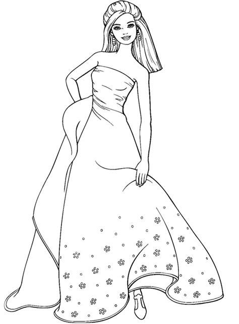 imagenes para colorear vestido dibujos de los vestidos de barbie para colorear