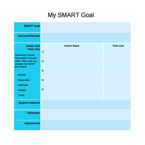 smart goal setting template smart goals worksheet for students fioradesignstudio