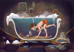 bath painting depths of imagination by jennaleeauclair on deviantart