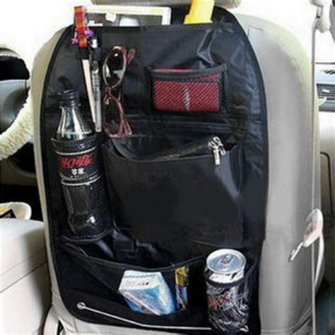 Six Pocket Back Seat Organizer Umbrella Holder Black Hitam 1 car seat back organiser multi pocket travel storage bag