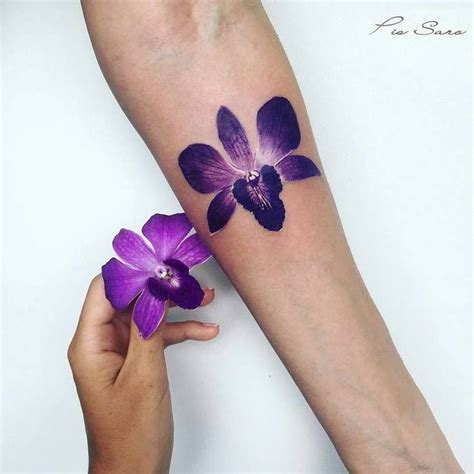 purple orchid tattoo designs best 25 orchid ideas on shoulder