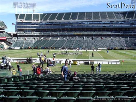 section 8 alameda county oakland coliseum section 116 oakland raiders