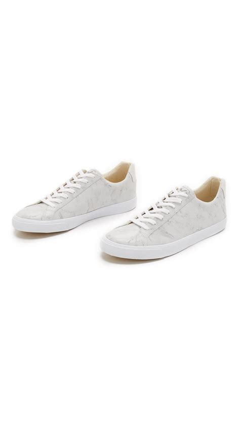 veja shoes veja esplar leather sneakers in gray for lyst