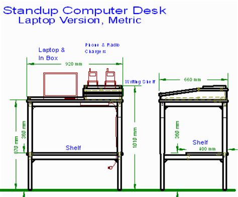 Diy Stand Up Desk Plans Woodideas Standing Desk Plans