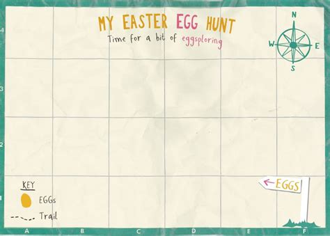 scavenger hunt map template easter crafts farming and rural