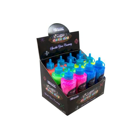 Glitter Glue Bazic Lem Glitter 72 of bazic 120 ml neon color glitter glue distributor