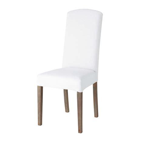 maison du monde housse de chaise housse de chaise en blanche maisons du monde