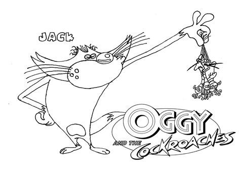 oggy coloring pages online oggy and the cockroaches coloring page6 oggy coloring
