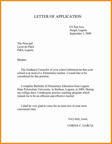 Application Letter Principal 9 Application To Principal Musicre Sumed