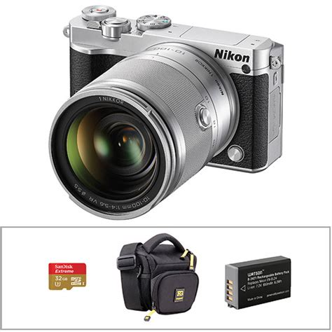 nikon 1 j5 mirrorless digital with 10 100mm lens and b h