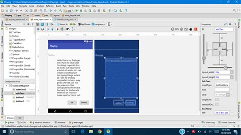 android studio layout widget android widgets not displaying properly in design view
