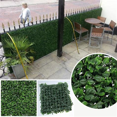 faux plants for outdoors artificial privacy fence hedges 50x50cm outdoor