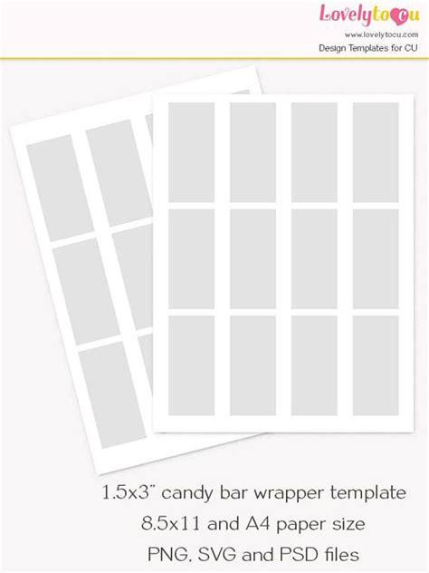 mini chocolate bar wrapper template candy bar custom wrap