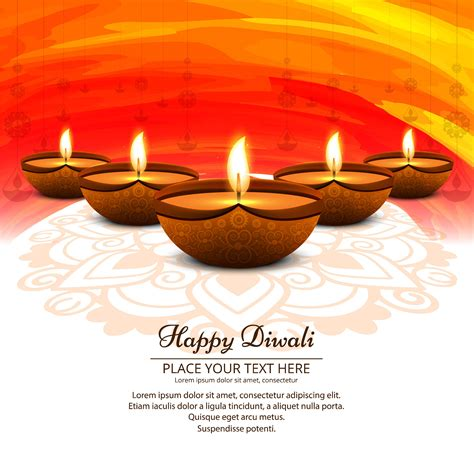 beautiful happy diwali background   vectors