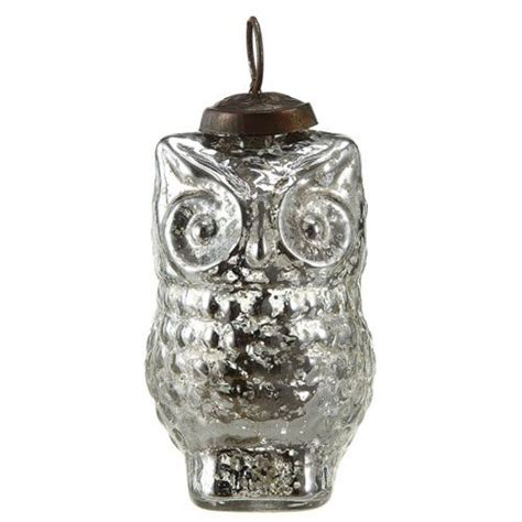 mercury glass owl ornament christmas pinterest