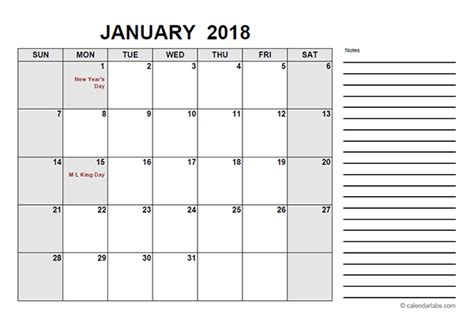 2018 Free Calendar Pdf Free Printable Templates Free Calendar 2018 Template