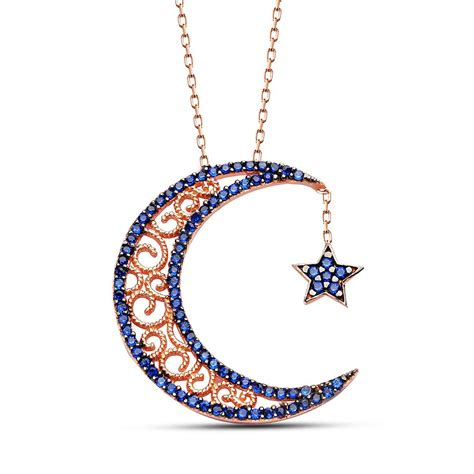 crescent silver necklaceislamic jewelry store