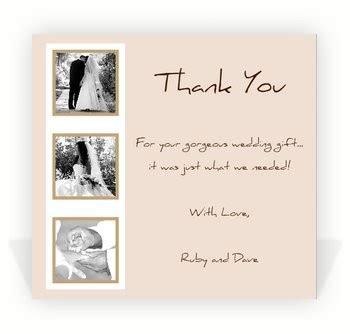 thank you notes for wedding gifts sle wedding thank you notes free wedding thank you note exles