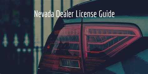 How to Get a Nevada Dealer License   Surety Bonds Blog