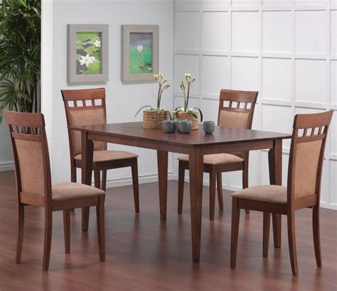 walnut dining table set coaster mix and match walnut leg dining table set