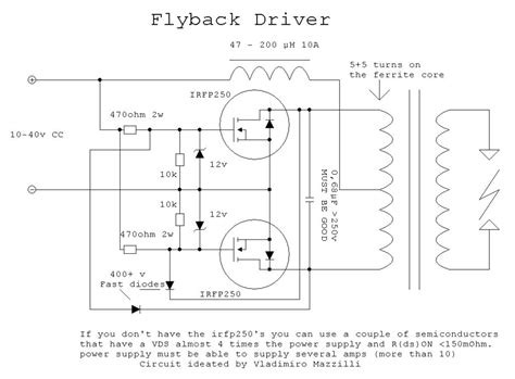 flyback diode failure mosfet troubleshooting zvs flyback failure electrical engineering stack exchange