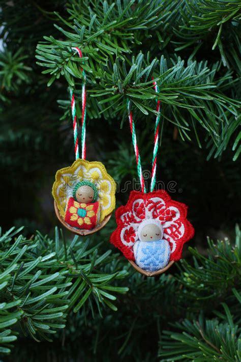 christmas baby tree ornaments stock photography image