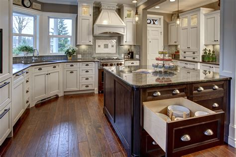 kitchen island with storage before after kitchen remodel ranch style homes