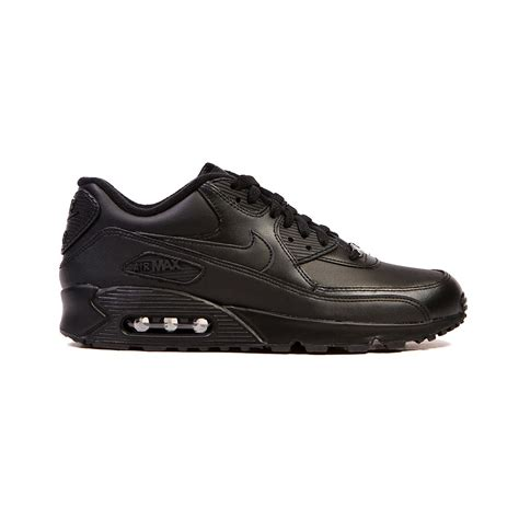 nike air max shoes nike air max 90 leather black black s shoes 302519 001