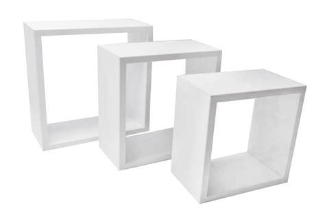 mensole cubo tris cubo 34x34 30x30 26x26 cm hxl spessore 15 5 cm