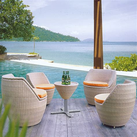 Egg Patio Furniture Shop Quot Egg Quot Stacking Rattan Patio Furniture Set For Only 2100