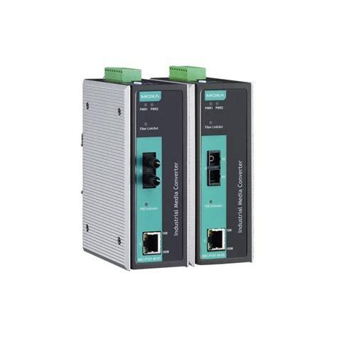 moxa imc p101 m sc convertisseur media industriel poe
