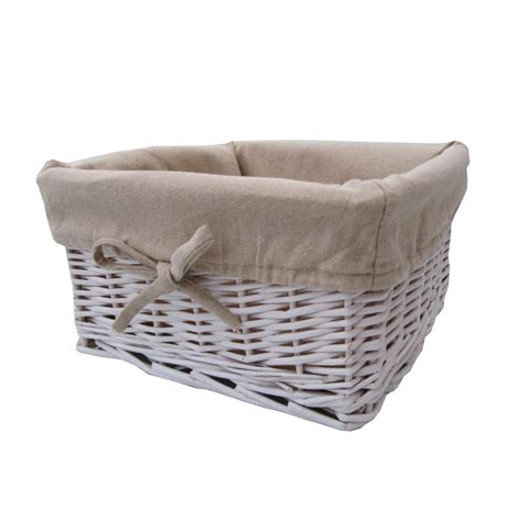 buy baskets buy white wicker storage basket square from the
