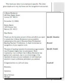 free sle letters of employee appreciation