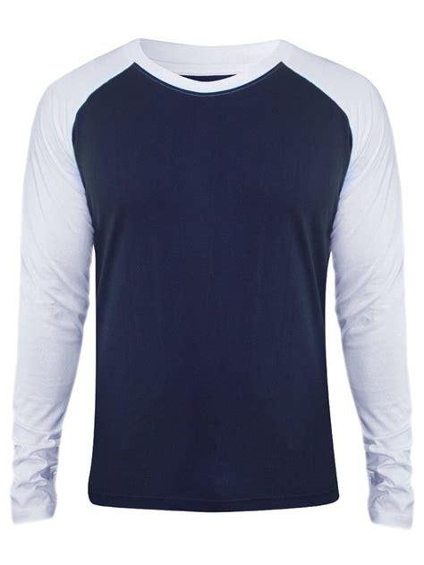 Neck Sleeve T Shirt nologo navy white neck sleeve t shirt
