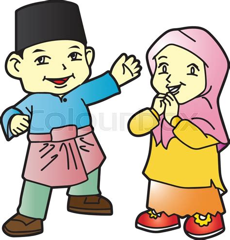 wallpaper cartoon malaysia patani is malay people in southern of thailand stock