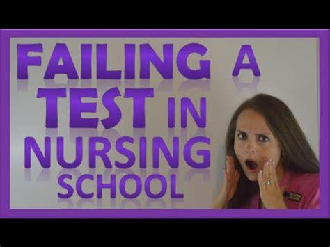 nursing school test failed a test in nursing school how to handle failing a