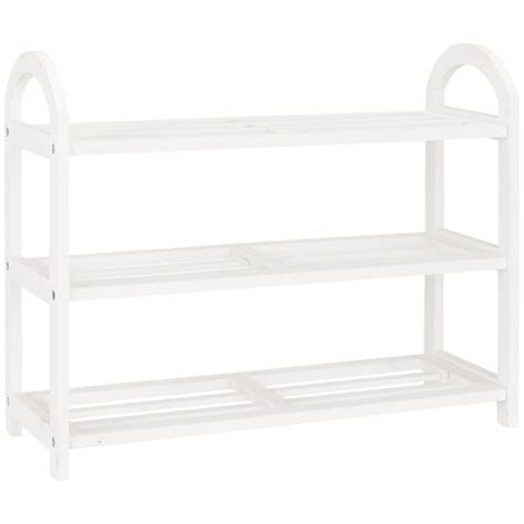White Wood Shoe Rack by Buy Lewis 3 Tier Wooden Shoe Rack White Lewis