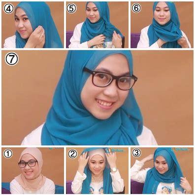 gambar tutorial hijab berkacamata gambar tutorial hijab untuk yang berkacamata terbaru 2016