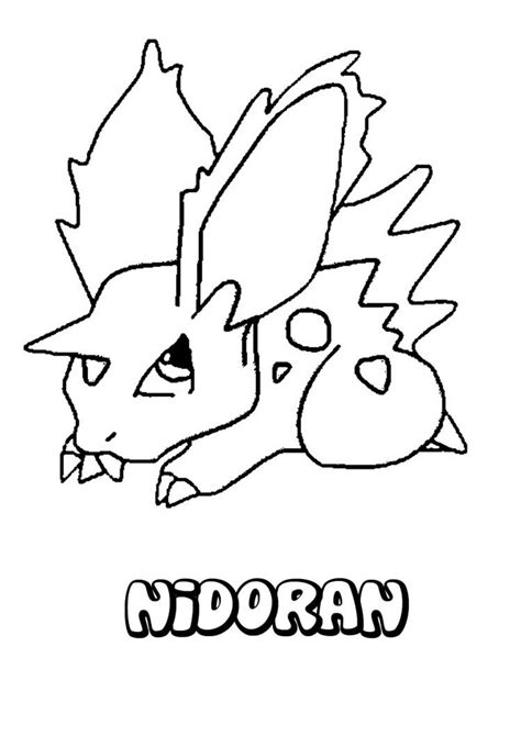 pokemon coloring pages nidoking nidoran coloring pages hellokids com